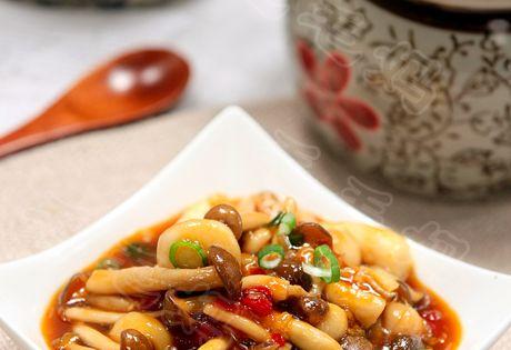 Mushrooms in hot garlic sauce yu xiang mushrooms by for Cuisine xiang