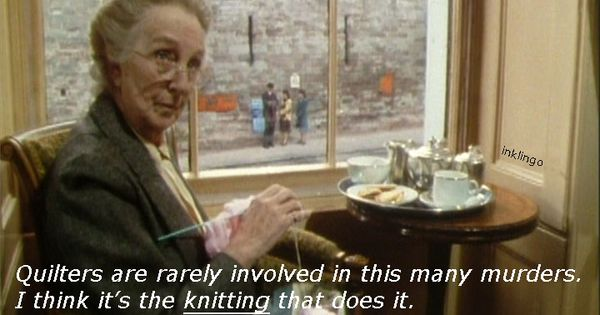 Inklingo Quilting Meme Miss Marple Joan Hickson Is A