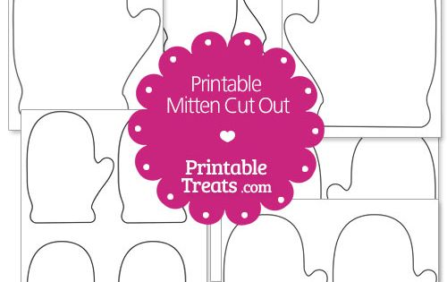 Printable Mitten Cut Out From PrintableTreats.com