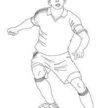 Desenho De Um Jogador De Futebol Para Colorir Online