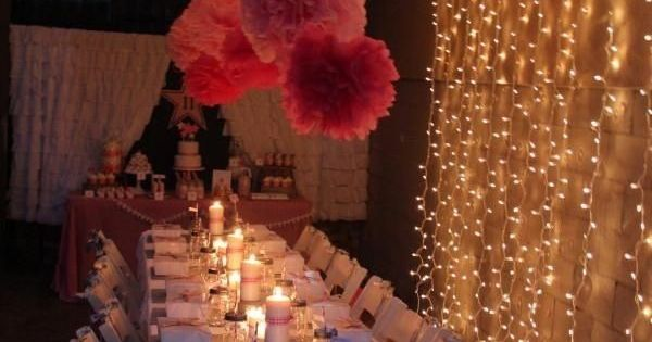 Outdoor dinner 15th or sweet 16 birthday party ideas for 16th birthday decoration ideas