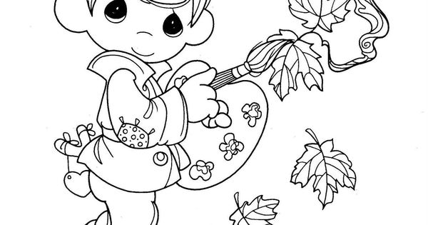 precious moments coloring pages autumn - photo#18