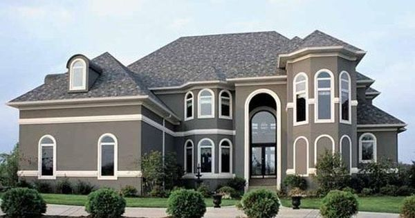 Grey Stucco With White Trim Then A Nice Standout Color