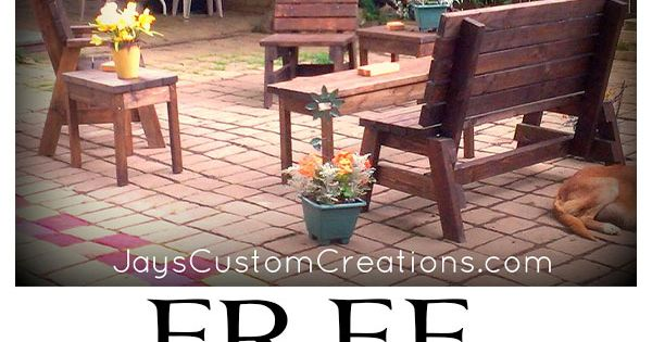 Outdoor 2x4 furniture plans Outdoor Love Pinterest