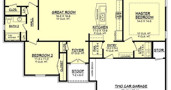 Plan 430 66 1600 Sq Ft With Full Or