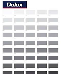 50 Shades Of Grey For Men Paint Shades Dulux Grey Dulux Paint Colours Grey