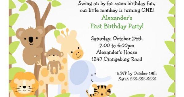 Safari Baby Invitations as beautiful invitation ideas