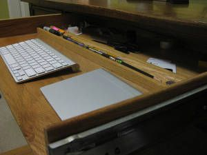 How To Turn A Desk Drawer Into A Keyboard Tray Extra Space Storage Desk With Drawers Extra Space Storage Diy Home Accessories