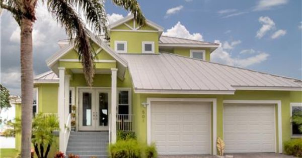 Key West Style Home By The Sea Exterior Paint Colors