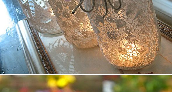 DIY - spray paint over lace projects.