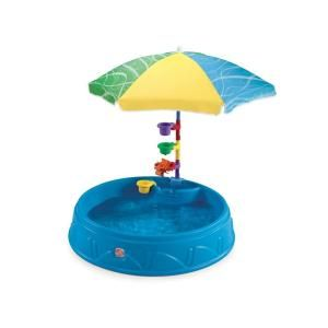 Step 2 Round Play And Shade Plastic Kiddie Pool With Umbrella 716000 The Home Depot Kiddie Pool Children S Paddling Pool Baby Pool