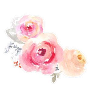 Corner Watercolor Flowers Watercolor Flowers Floral Watercolor