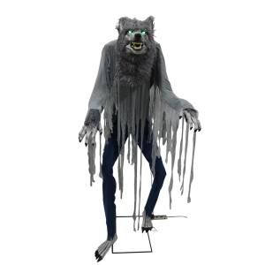 Home Accents Holiday 7 Ft Towering Werewolf 5124439 The Home Depot Home Depot Halloween Halloween Props Scary Animated Halloween Decorations