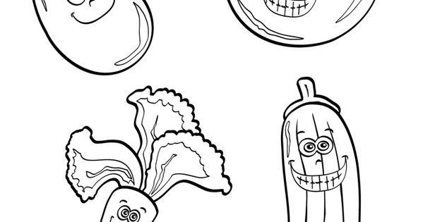 ausmalbild obst und gemüse kostenlose malvorlage