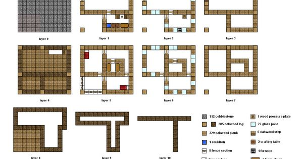 minecraft blueprints layer by layer minecraft builds