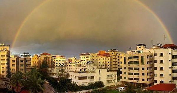 شبكة أجواء فلسطين شبكة قدس الاخبارية صورة لقوس المطر في سماء مدينة غزة اليوم تصوير حسام سالم Instagram Photo Instagram Posts