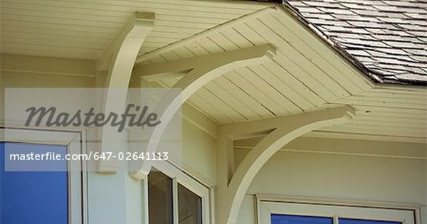 Exterior Corbels For Bay Window Overhang Detail Roof Overhang And Support Brackets Stock Photo Premium Home Building Tips Building A House House Exterior