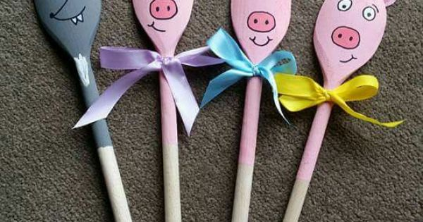 wooden spoon pig craft 3 pigs toddler chang e 3 5783