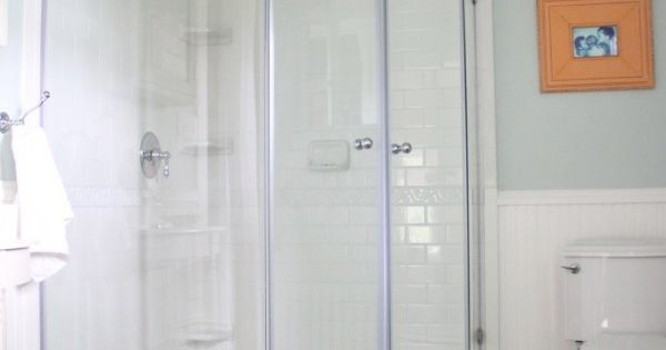 Vigo 47 neo angle shower with subway tile hexagon tile for Subway vigo