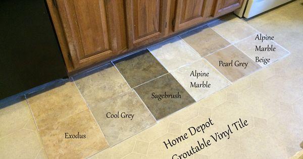 Looking For Kitchen Flooring Ideas Found Groutable Vinyl