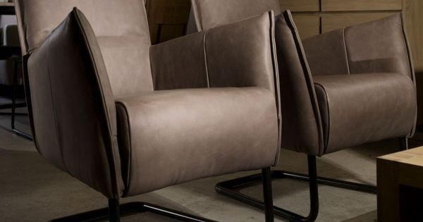 Leren fauteuil alek woonwinkel taupe en fauteuil - Grijze lounge taupe ...