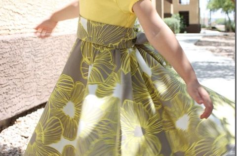 Twirly Dress tutorial -- fast and easy to make, says Melanie at
