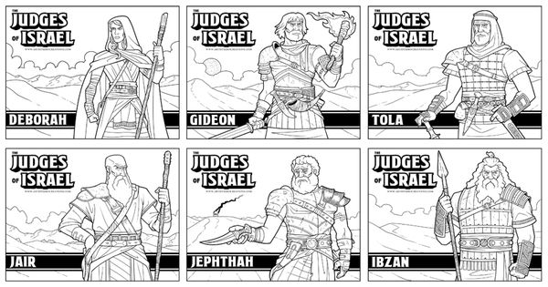 The Judges of Israel Coloring Pages