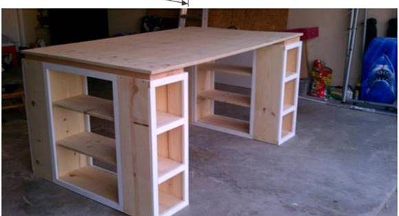 creative ideas diy modern craft table n hmaschinentisch m bel und furniture. Black Bedroom Furniture Sets. Home Design Ideas