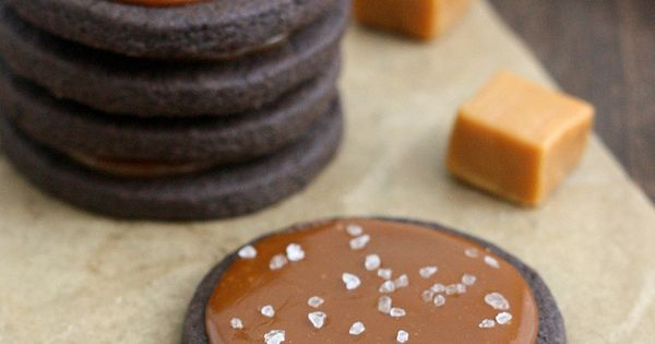 Death by salted caramel: Salty Chocolate Caramel Butter Cookies.