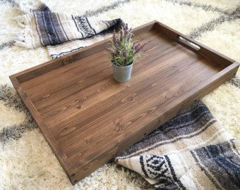 Rustic Industrial Tray Wooden Tray Ottoman Tray Coffee Table