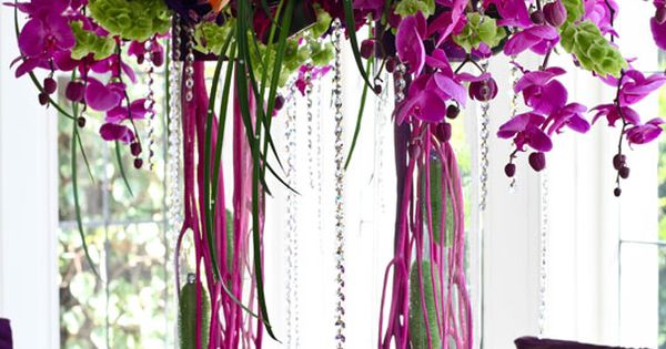 Do you love purple? We do too! Come check out our other colored floral arraignments.  http://www.CreativeAmbianceEvents.com