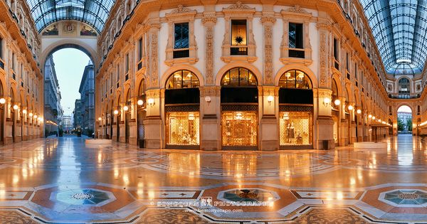 Mall Interior Milan Italy Songquan Photography Galleria Vittorio Emanuele Ii Italy Milan Italy