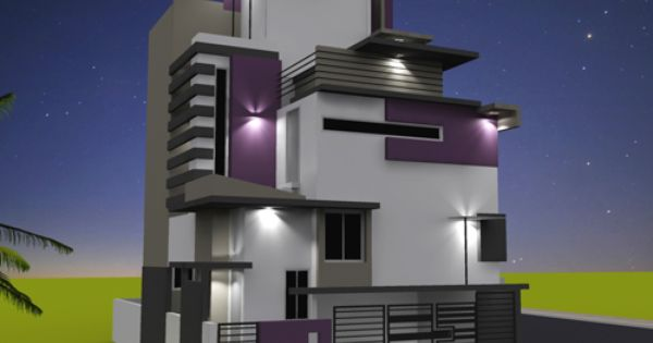 Front Elevation Of House In Gurgaon : Rnganath s residence another side view of front