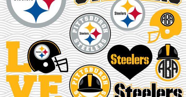 Pittsburgh Steelers Svg Logos Monogram Silhouette Cricut