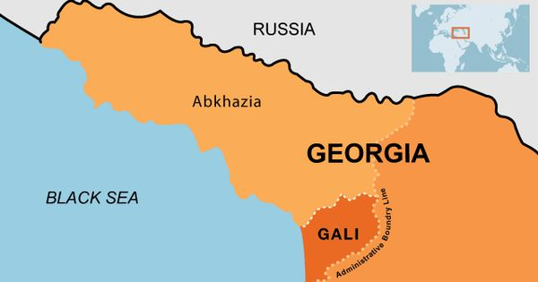 Map Of Abkhazia That Also Shows The Gali District Maps Of - Abkhazia map black sea