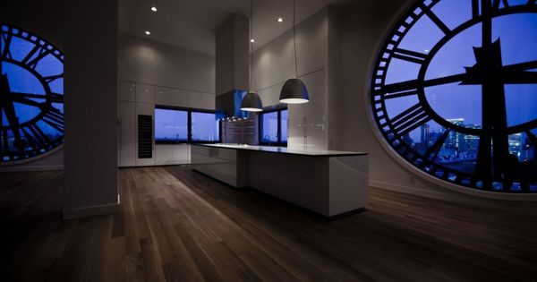 Minimal designed this stunning kitchen inside a Clock Tower apartment in New