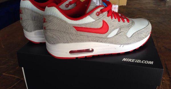 Nike nikeid air max 1 red grey white zig woven mesh | Nike Nikeid air