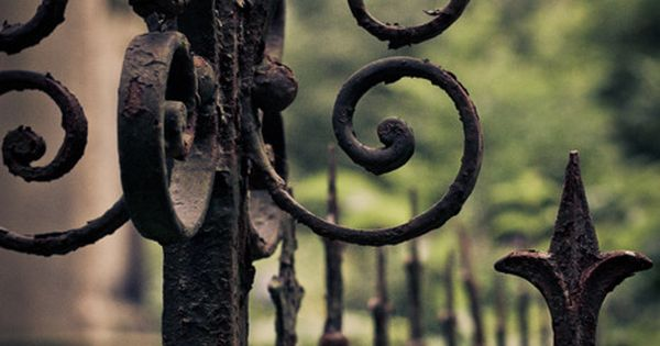 Wrought Iron Fence!!! Bebe'!!! Beautiful old wrought ironwork!!!