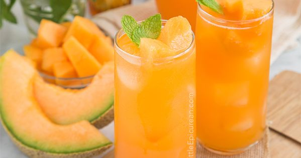 Cantaloupe Agua Fresca - a simple mixture of fruit puree, water, lime