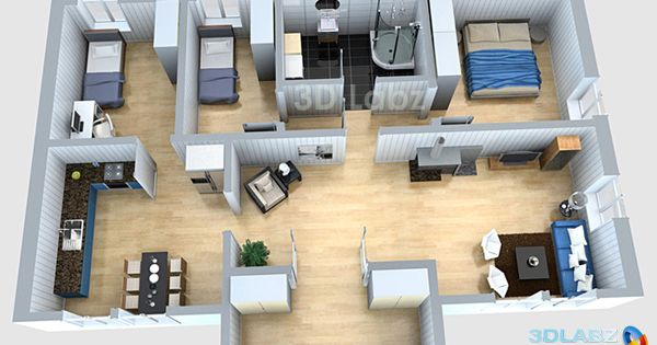 3d floor plan designer Luxury house plans 3D floor plan