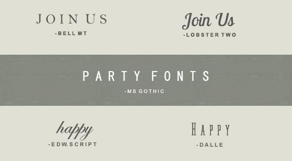 25 Party Fonts (not all free, but many!) love the graphic design