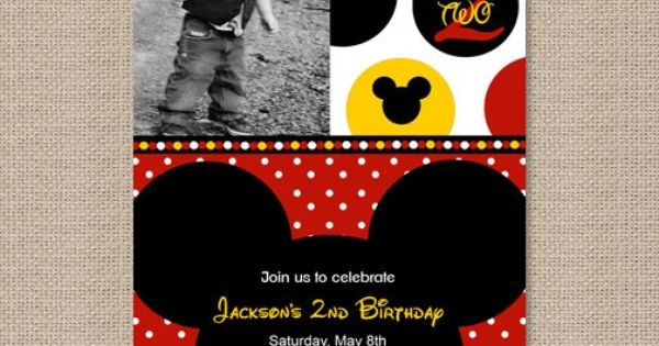 Another Mickey Mouse Party Invitiation