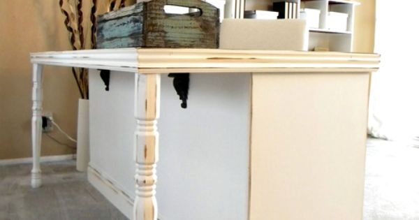 From old dresser to a desk - this would also make a