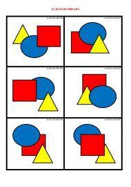 PERCEPCIÓ VISUAL (amb imatges) | Exercicis d'estimulació ...