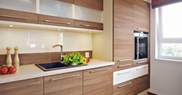 Dwukolorowa Aranzacja Kuchni Aranzacje Wnetrz Kuchnia Wnetrza Kitchen Kitchen Cabinets Home Decor
