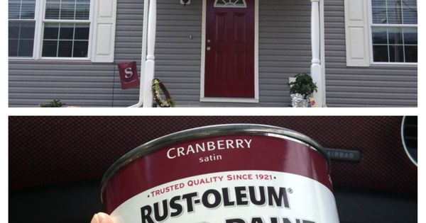 Always Wanted A Red Front Door Paint Is From Lowes Rust