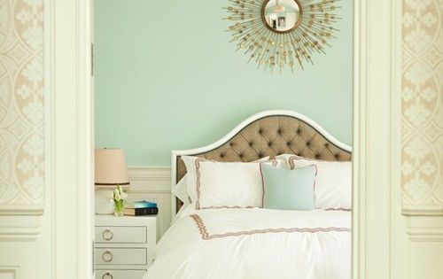 mint interiors - love this mint green paint color!!