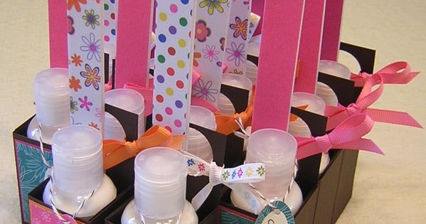 little lotion and nail file packages - replace lotion with nail polish