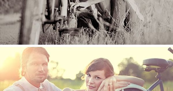 Vintage Engagement Photo Shoot - I know of a peach orchard near