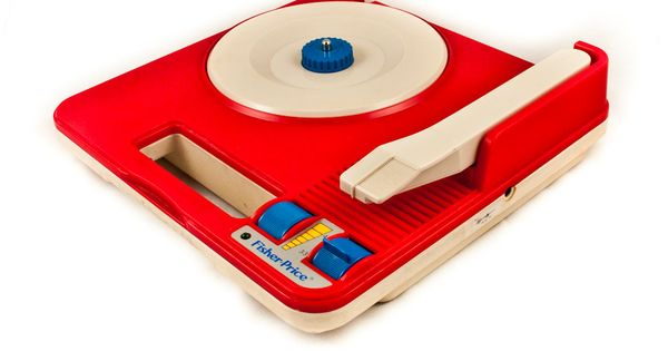 Red VINTAGE RECORD PLAYER Retro Decor by goodmerchants on Etsy